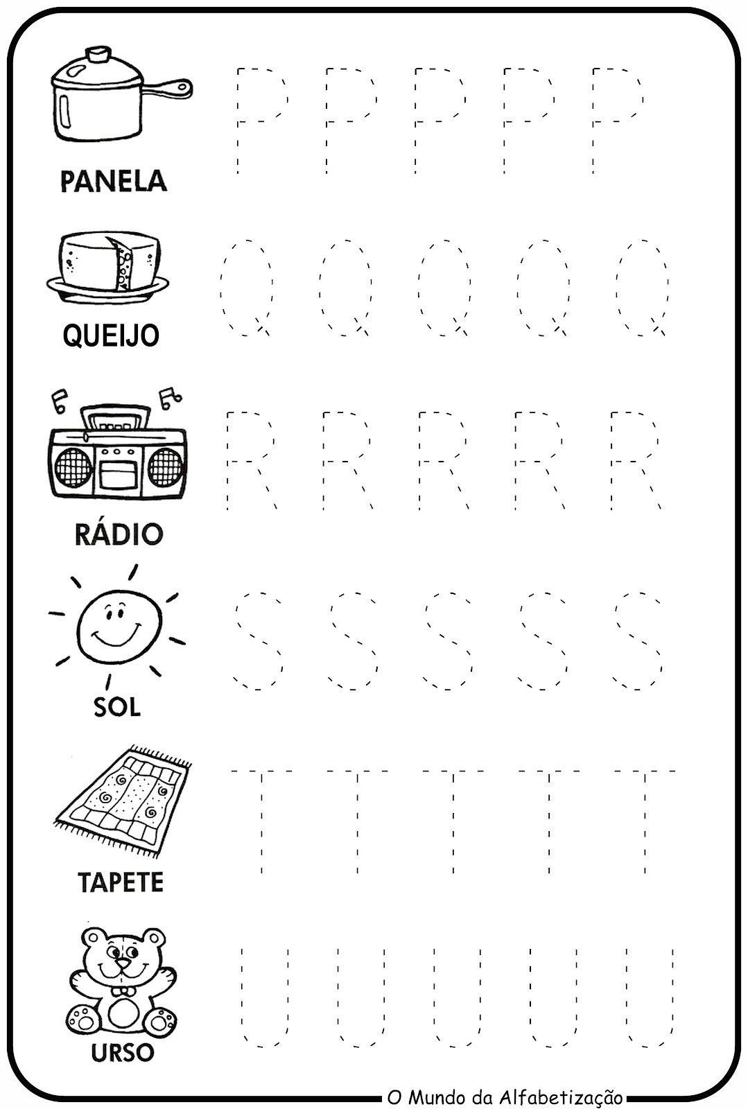Treinando O Alfabeto Atividade Alfabeto Educacao Infantil