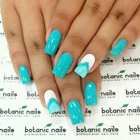 shades of blue  simple nail designs simple nail art