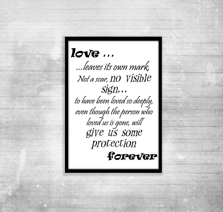 Harry Potter Poster Quote Albus Dumbledore Love Inspiration Decor Motivational Print Black White Quote Posters Harry Potter Love Quotes Love Quotes For Wedding