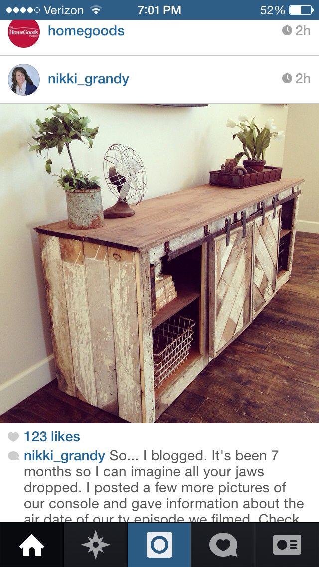 Diy barn door dresser home sweet home pinterest - Sweet home muebles ...