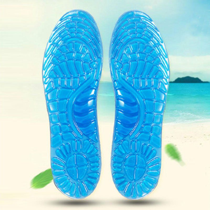 e2a68bc684 Gel Sports Insoles Women Men Shoes Pad Orthopedic Massage Damping Deodorant  Military Soft Comfortable Silicone Insoles Palmilhas