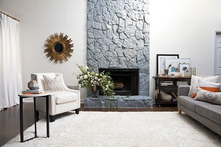 A Simple Guide To Painting A Stone Fireplace Painted Rock