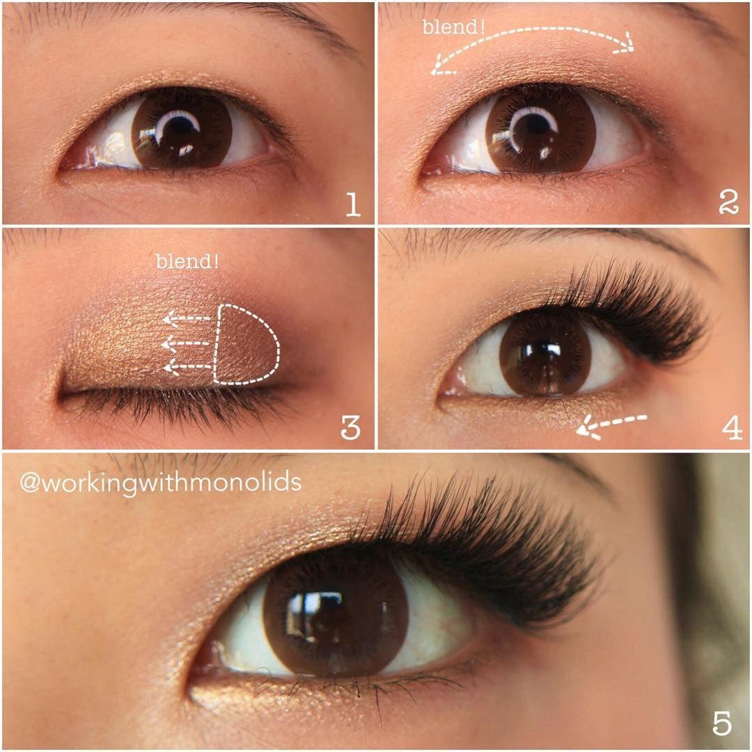 Monolid Makeup Tutorial 5steps, easy glam