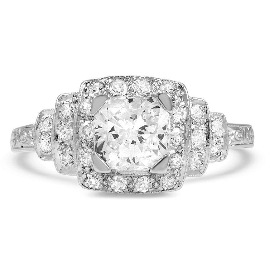 491860f6c The Becky Ring | Art deco design | Vintage diamond rings, Rings ...