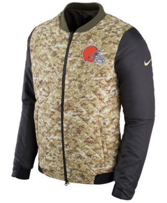 14eefbe8 Nike Men's Cleveland Browns Salute To Service Bomber Jacket - Green XXL