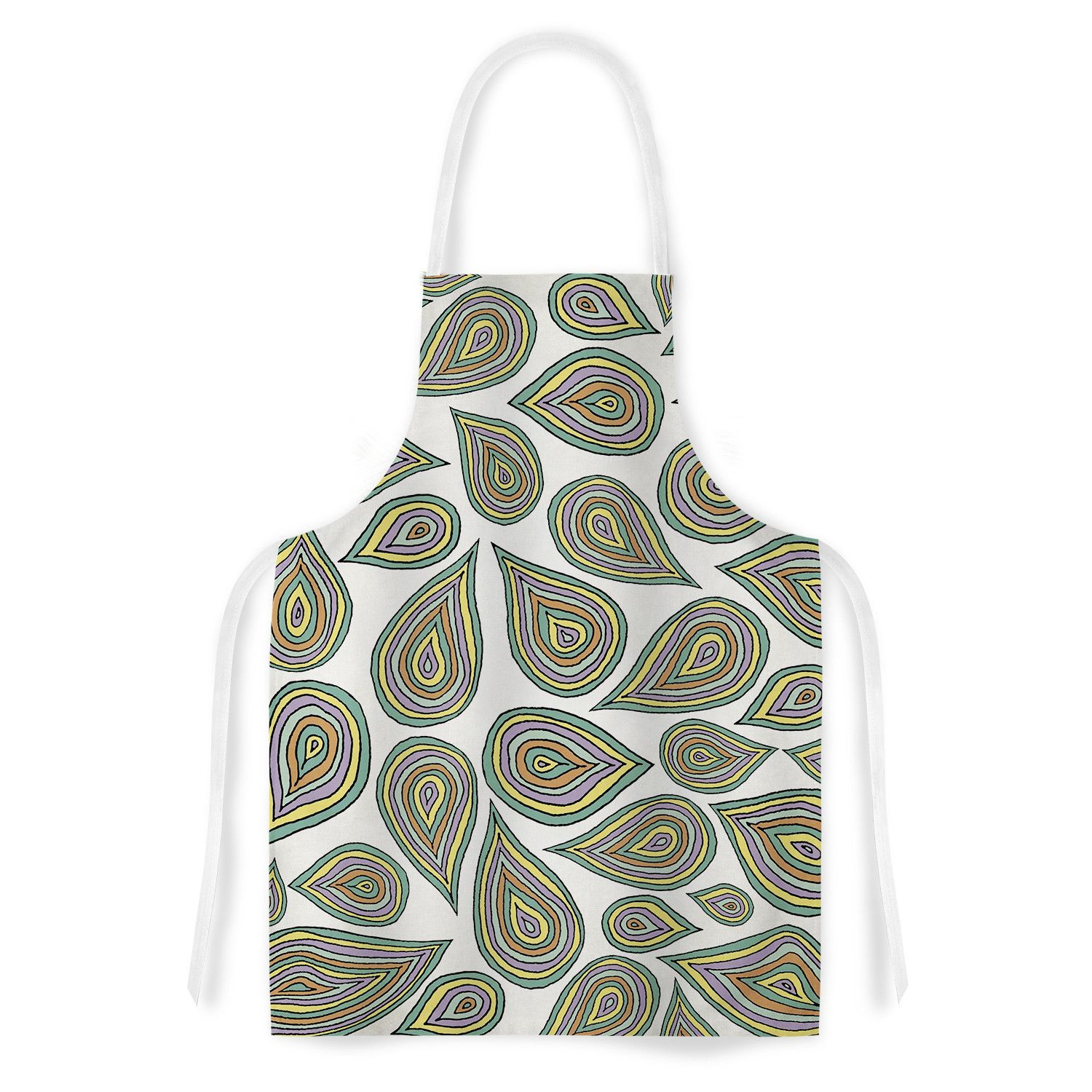 "Pom Graphic Design ""Its Raining Leaves"" Artistic Apron"
