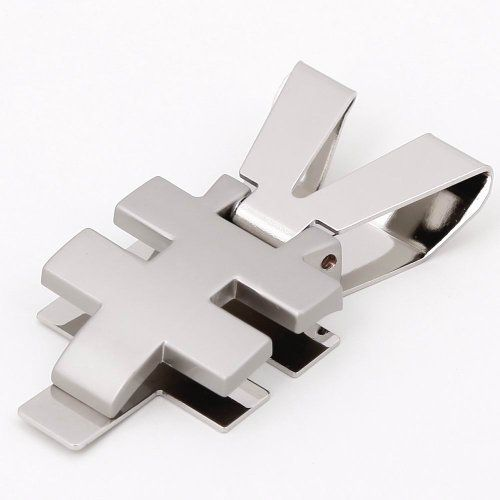Silver yuan mens Money Clip free Box silver Wedding card holder for men MC1034