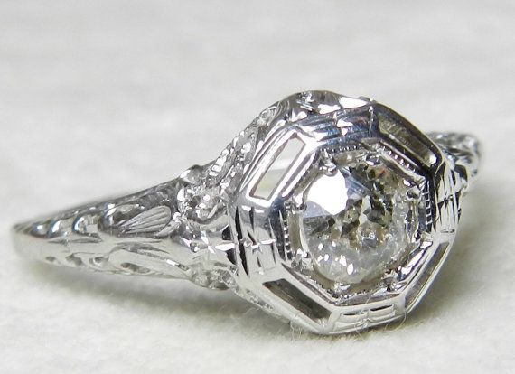 Hey, I found this really awesome Etsy listing at https://www.etsy.com/listing/267150151/art-deco-engagement-ring-40-ct-old