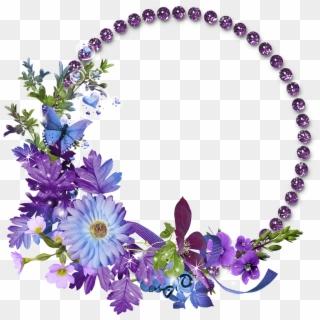 Flower Frame Transparent Background Png Flower Circle Frame Png Png Download Flower Frame Png Flower Frame Purple Flower Pictures