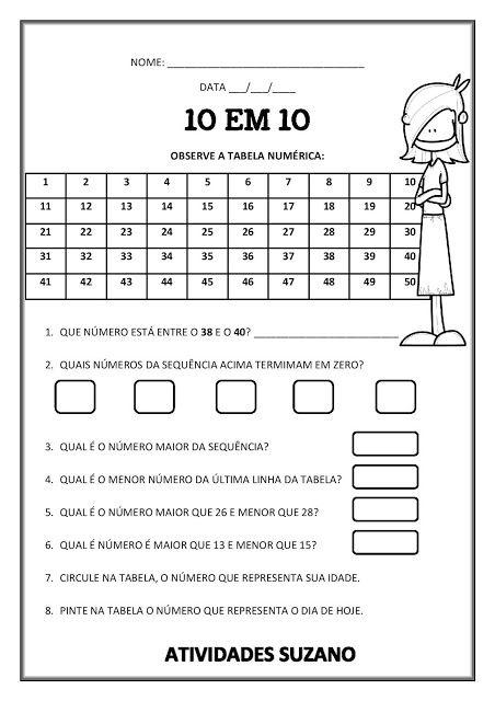 Ate Dez Antecessor Sucessor Atividades Pedagogicas Atividades