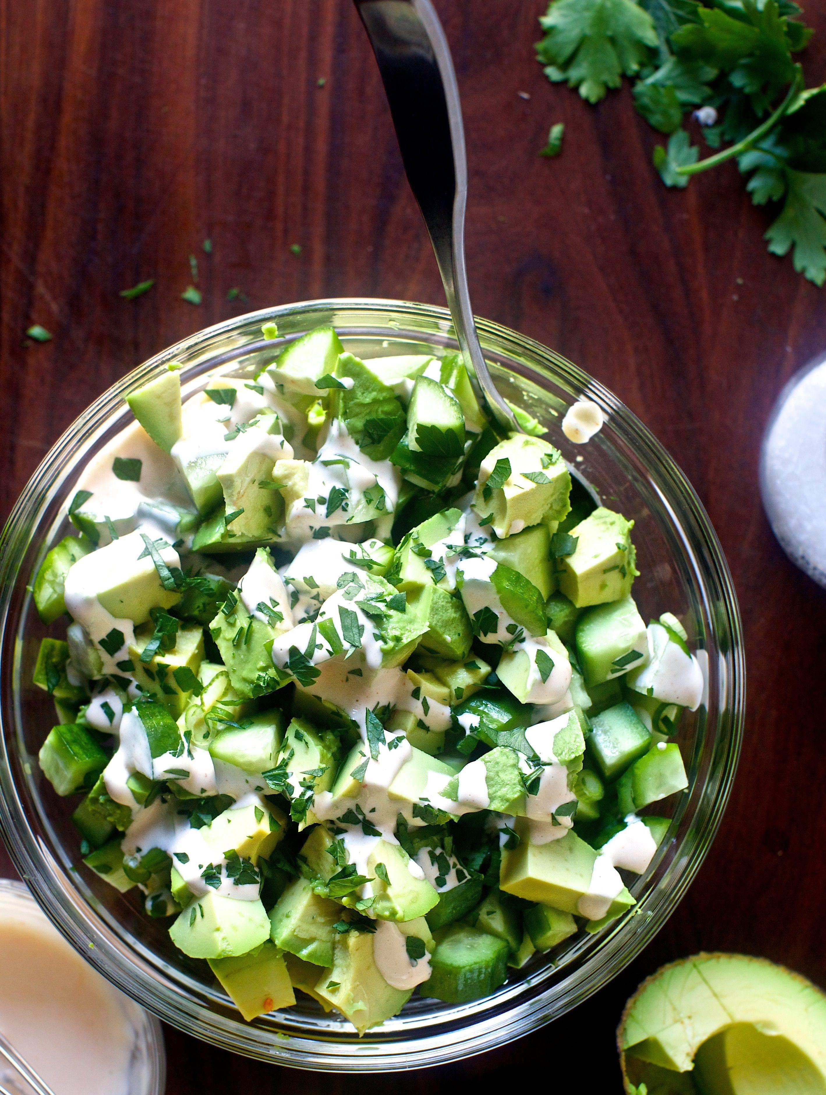Obsessively Good Avocado Cucumber Salad Ingred Avocado Salad