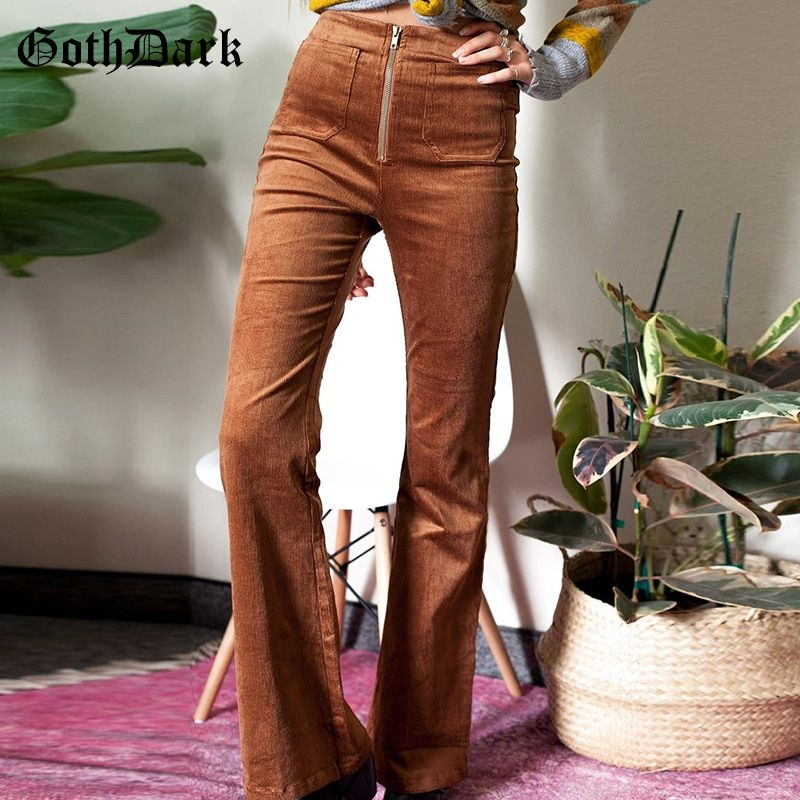 Back Zipper Pants Vintage Corduroy Pants Vintage Silk Blouse Vintage Outfit Size XS S High Waist Pants