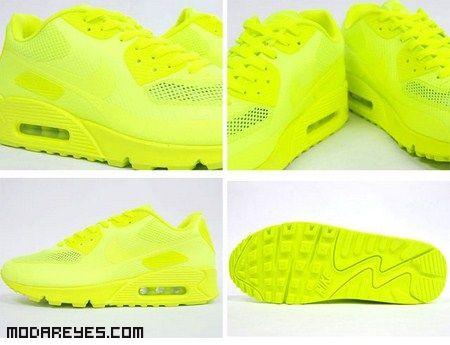 zapatillas nike amarillo fluor