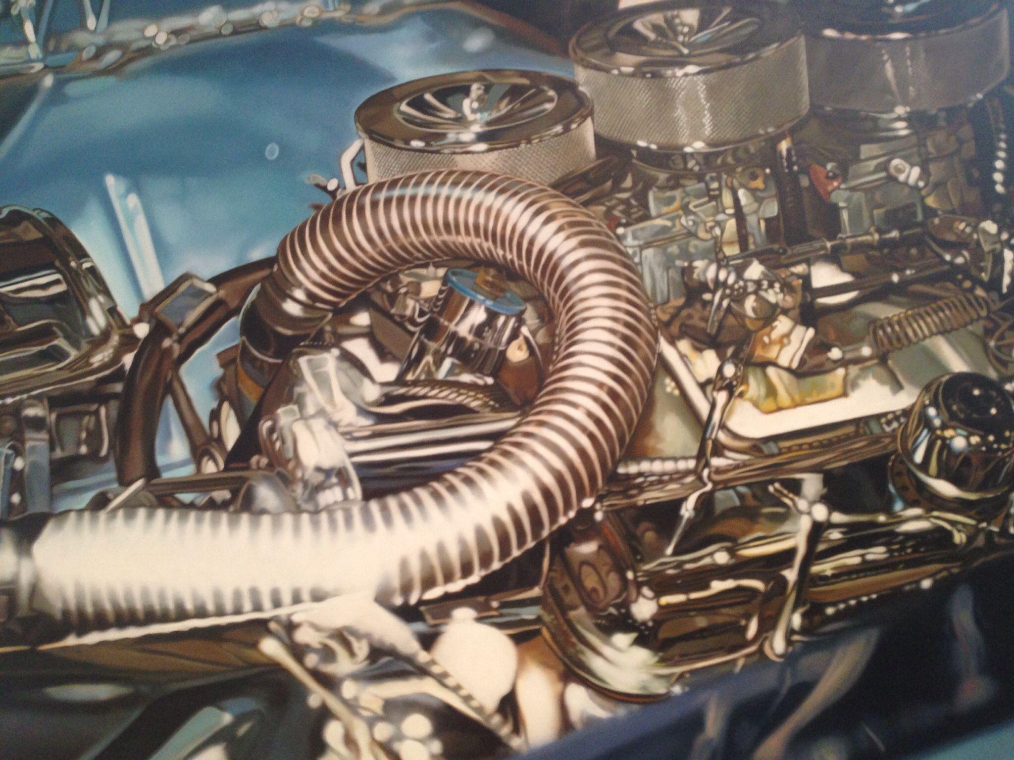 Engine Painting Art