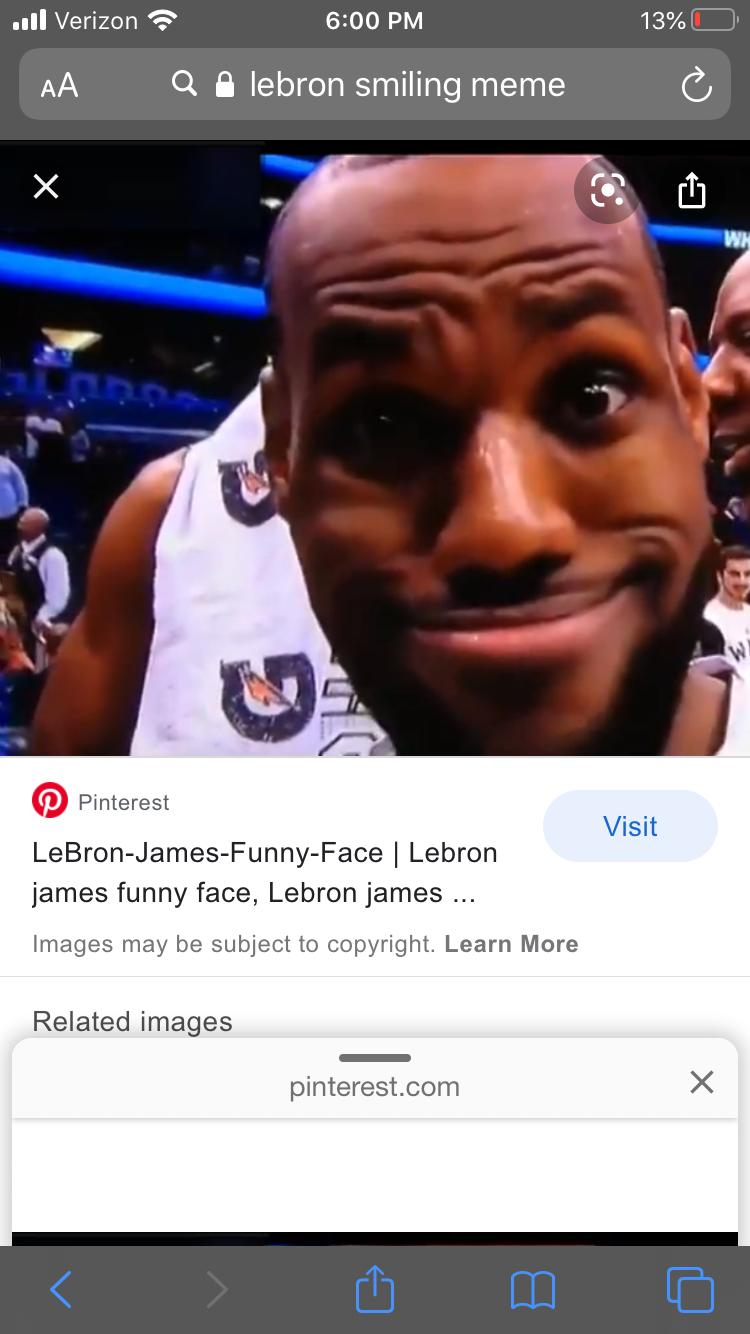 Pin By Jamison Schwartz On Memes Smile Meme Lebron James Funny Lebron James Funny Face