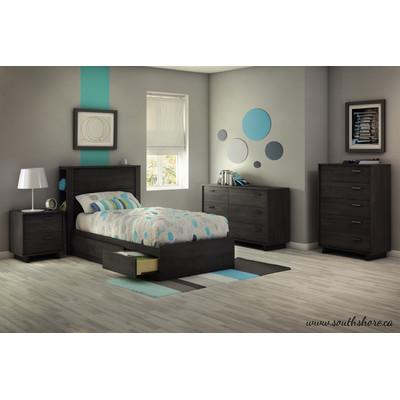 South Shore Fynn 6 Drawer Double Dresser Furniture Grey Oak Bedroom Furniture Sets