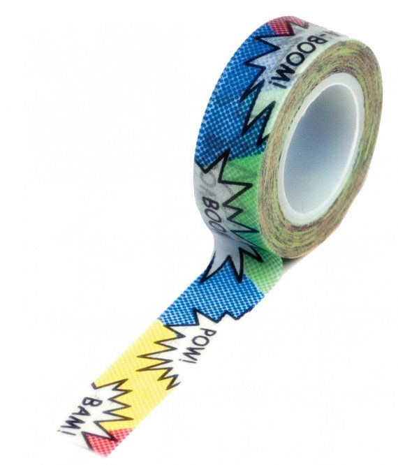 Fabulous Comic Book Strip Action Words Washi Tape by LaZoie on Etsy, $3.50 DB28