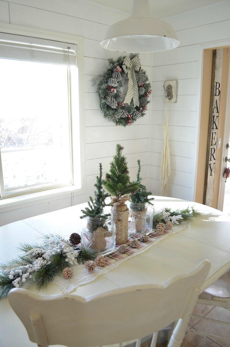 Simple Christmas Farmhouse Centerpiece | Christmas centrepieces ...