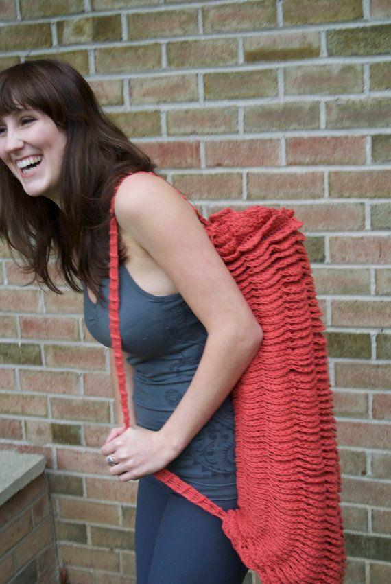 Om Shanti Yoga Mat Bag PDF Crochet Pattern RUFFLES Intermediate ...