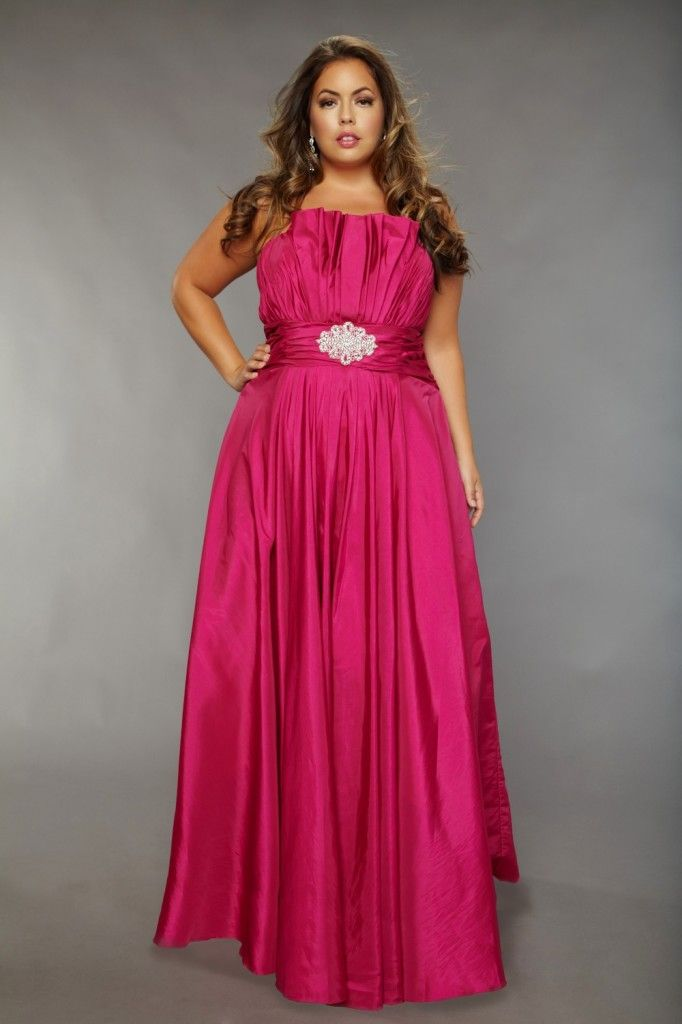 Plus Size Prom Dress Empire Waist Evening Gown For A Plus Size