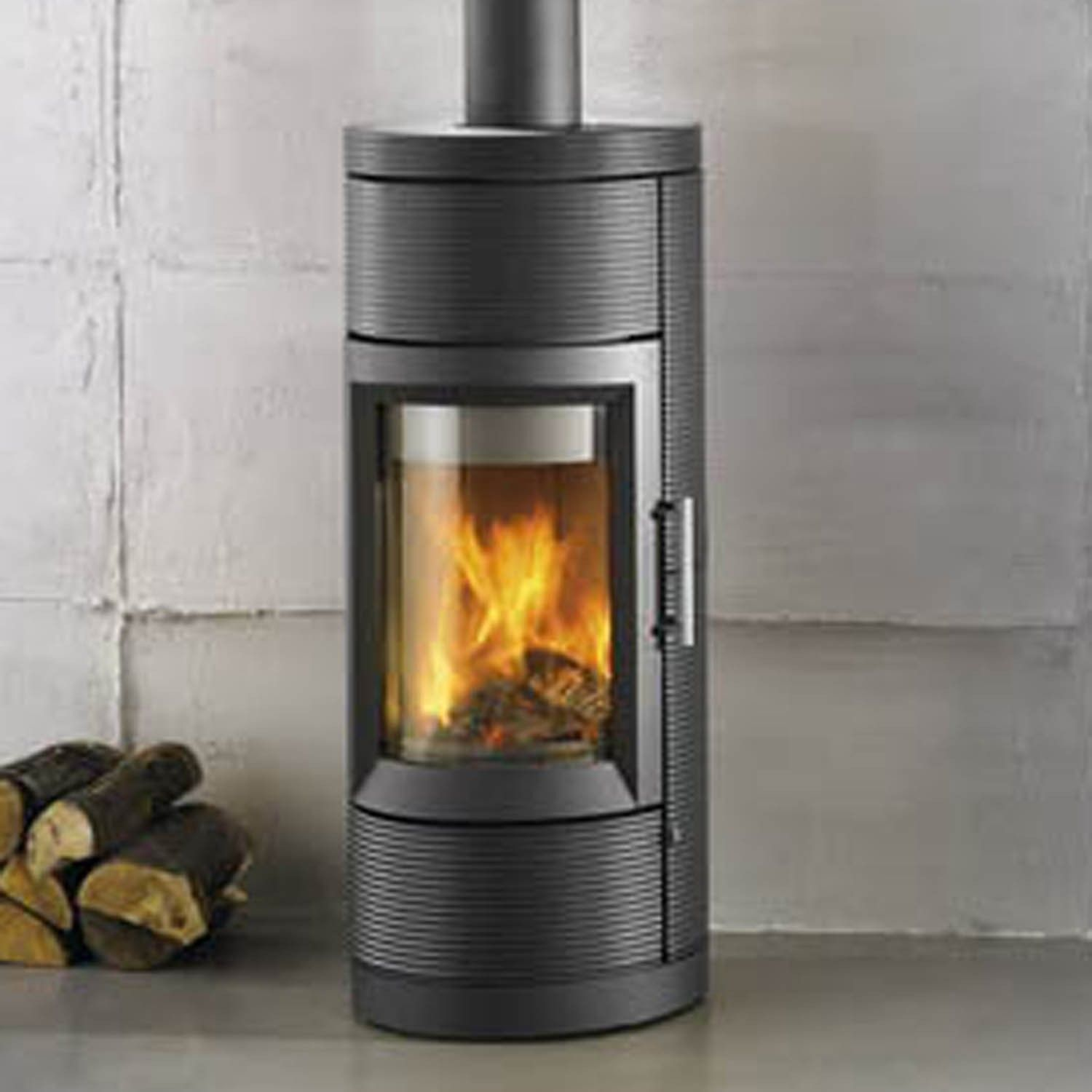 Lima 8150 wood stove with black lava finish by Hearthstone Heats