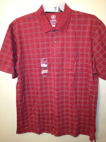 Mouse over image to zoom    Have one to sell? Sell it yourself  IZOD Polo Style Men Shirt -Red Checkered size XL ( Extra Large) - New $29.99