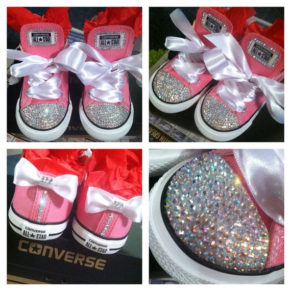 329d973bf70d Custom Rhinestone Converse WOMEN by Lexxclusive on Etsy