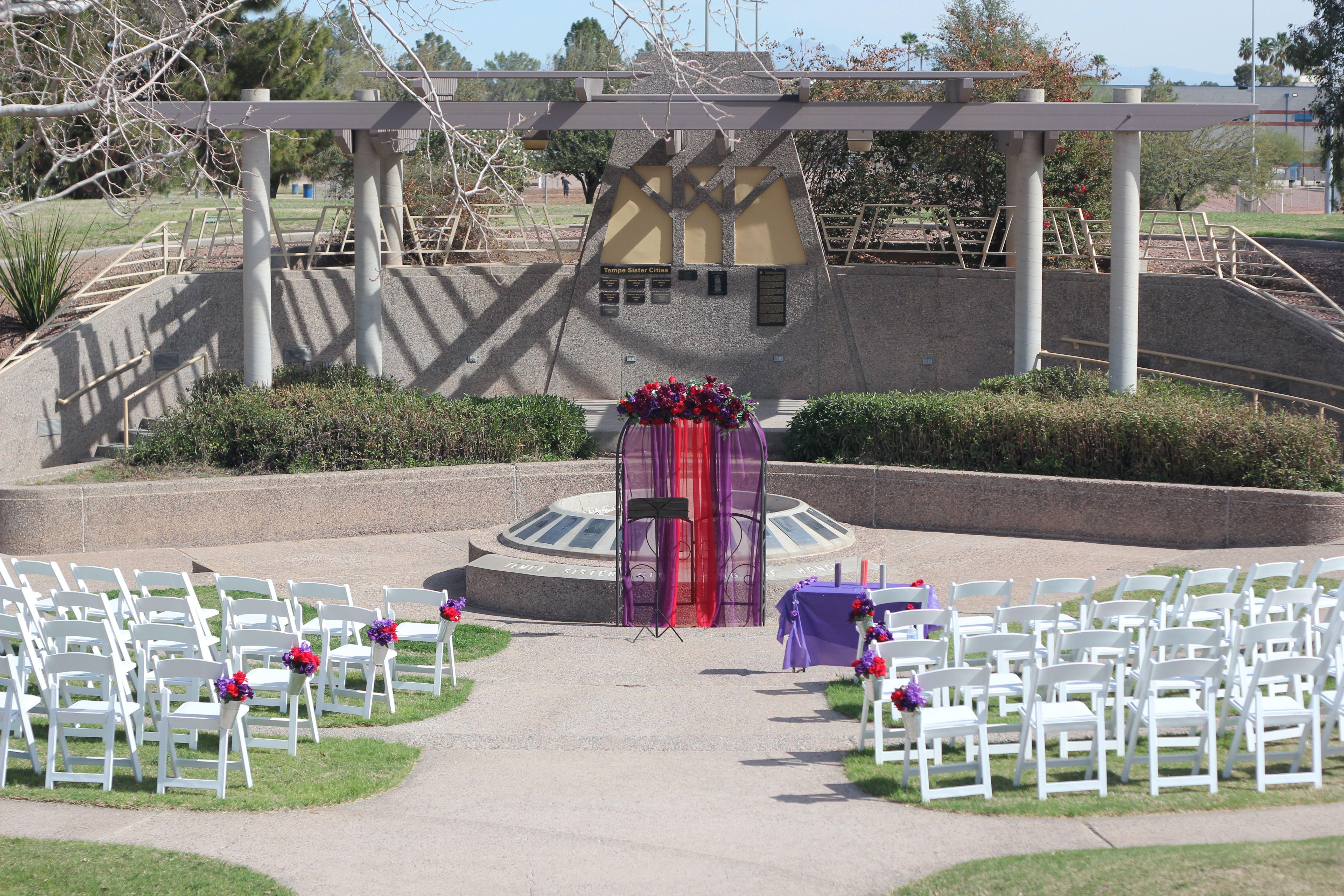 Kiwanis Park (Sisters Garden) Chandler, Arizona wedding by www.SanTanWeddings.com
