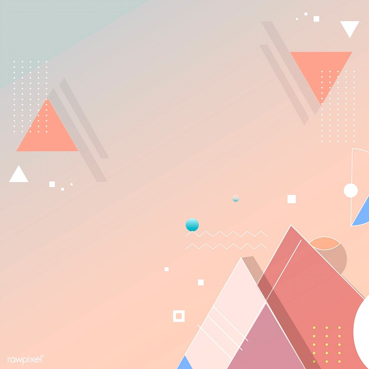Orange Geometric Abstract Background Vector Free Image By