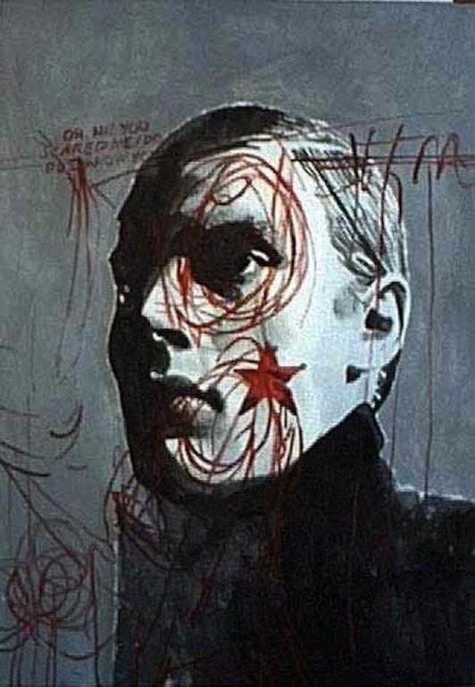 """Saatchi Online Artist: andrea saltini; Mixed Media Painting """"Aandrea saltini, l'uomo dalla voglia di stella"""""""