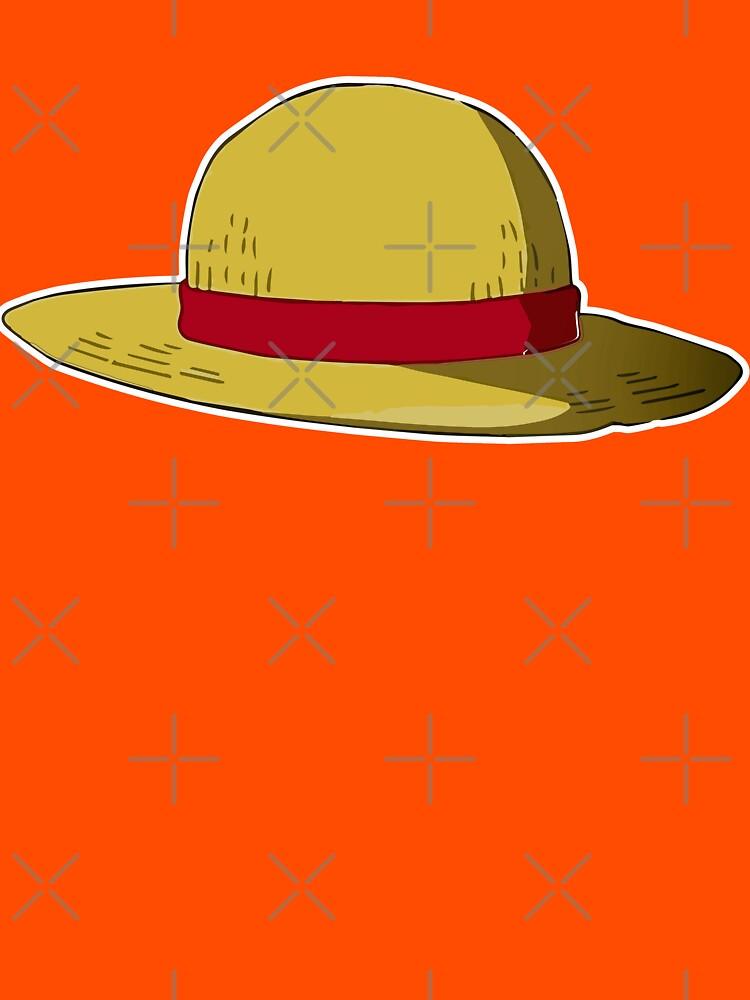 One Piece Hat Straw Hat Mugiwara Luffy Straw Hat T Shirt By Adjoumouaad Redbubble Straw Hat Luffy Hats