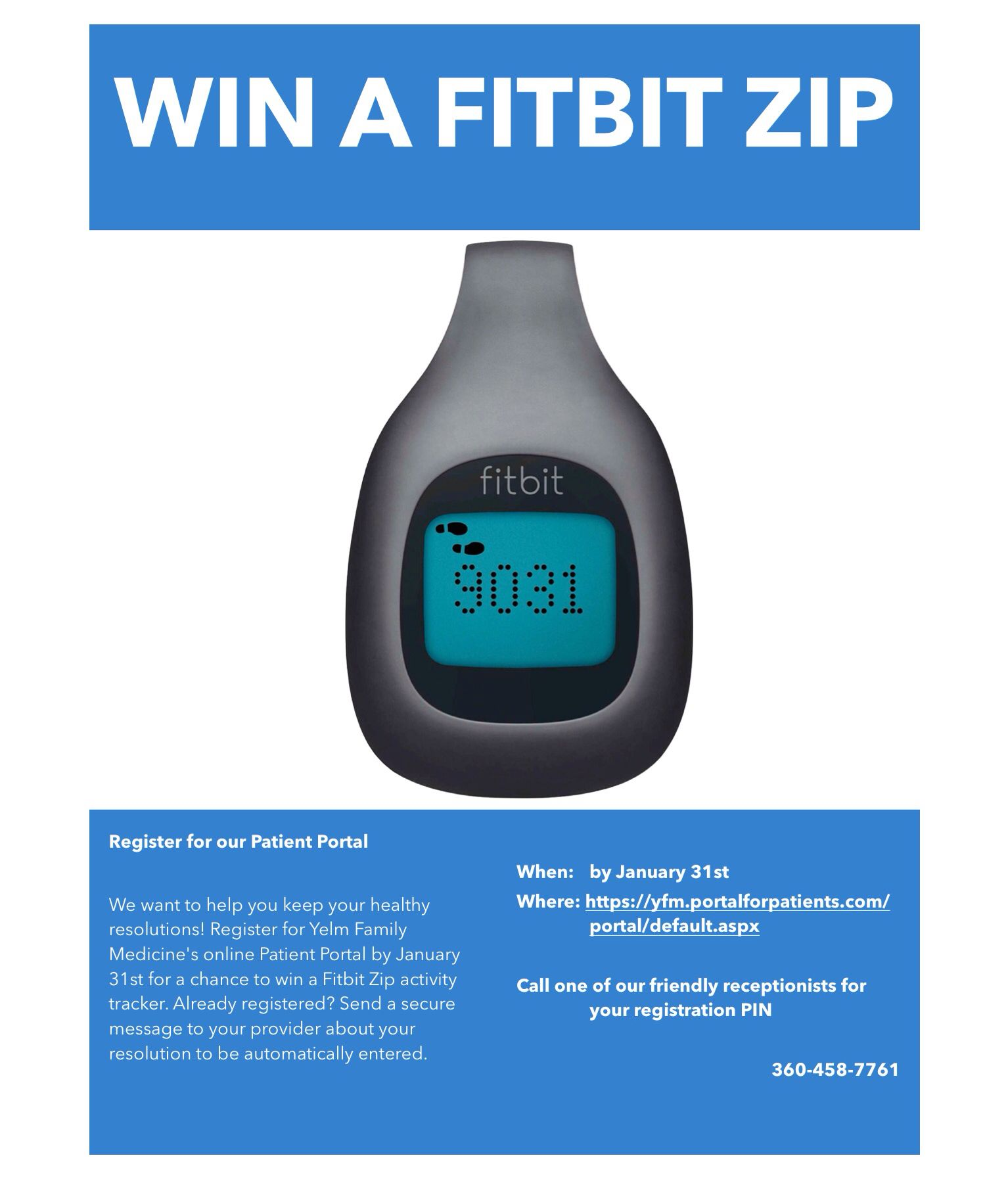 Register for our Patient Portal for your chance to win
