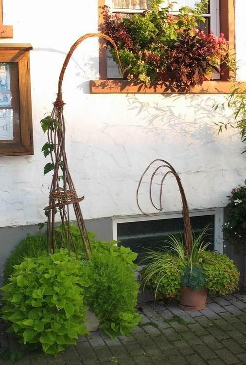 Willow Amazing Flowers Willow Weaving Garden Art