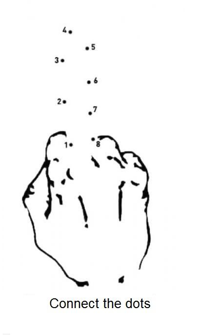 Connect The Dots For A Middle Finger Salute Art Pinterest