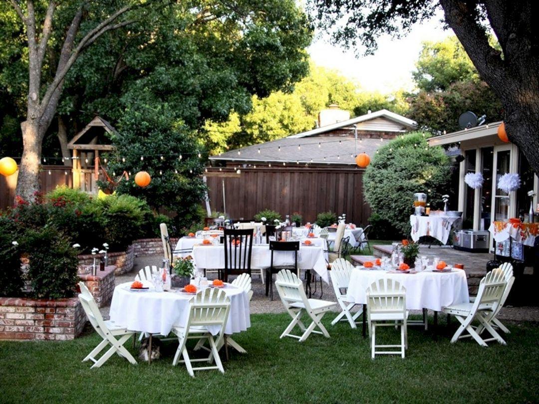 Outdoor Wedding Party Ideas 19 | Small backyard wedding ...
