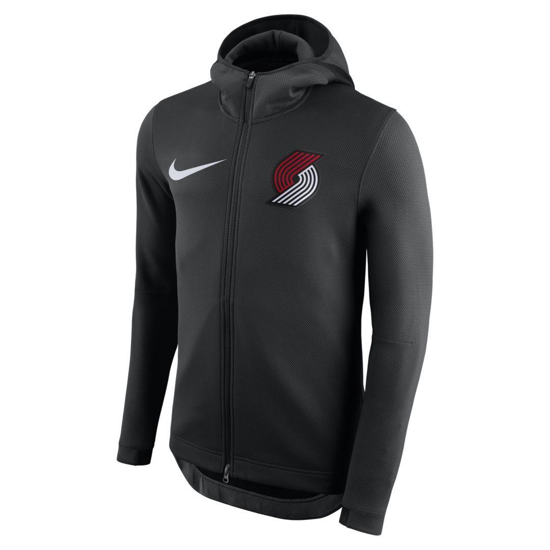 17484cdd Portland Trail Blazers Nike Therma Flex Showtime Men's NBA Hoodie ...