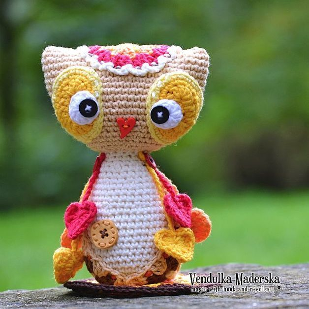 Baby owl Emma - pattern/ e-book | Eule, Häkeltiere und Häkelnde eulen