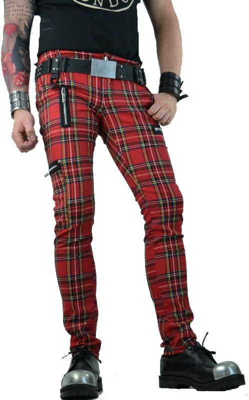 Tripp Royal Bones Red Plaid Exploited Punk Oi Tattoo Steampunk