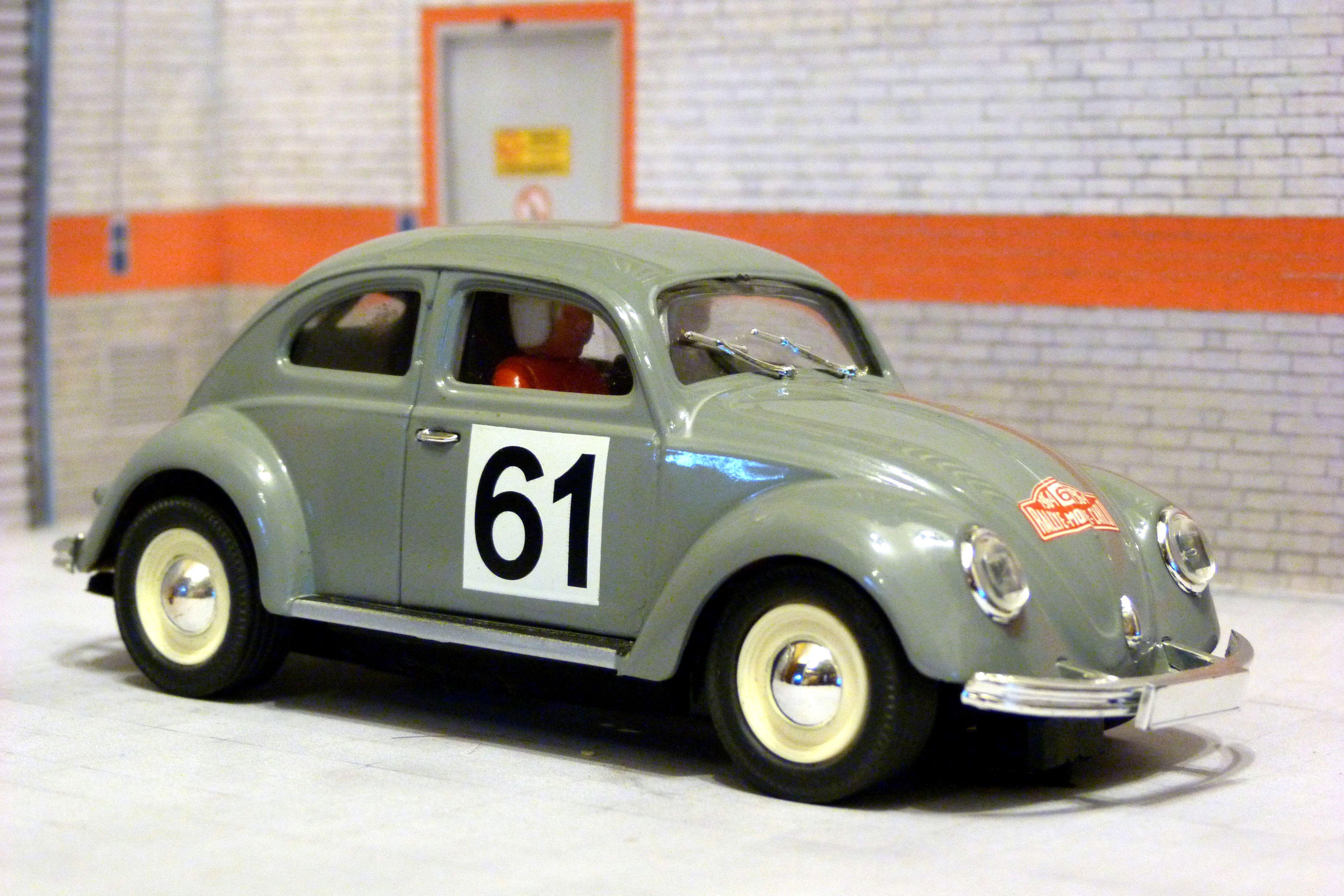 VW Beetle Rally Montecarlo 1964  Pink Kar  1:32 Slot Car