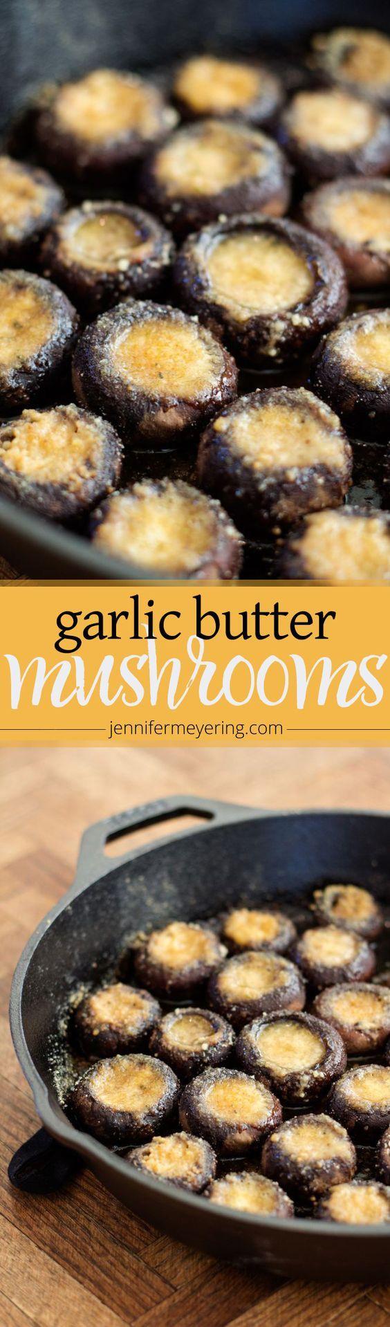 Garlic Butter Roasted Mushrooms
