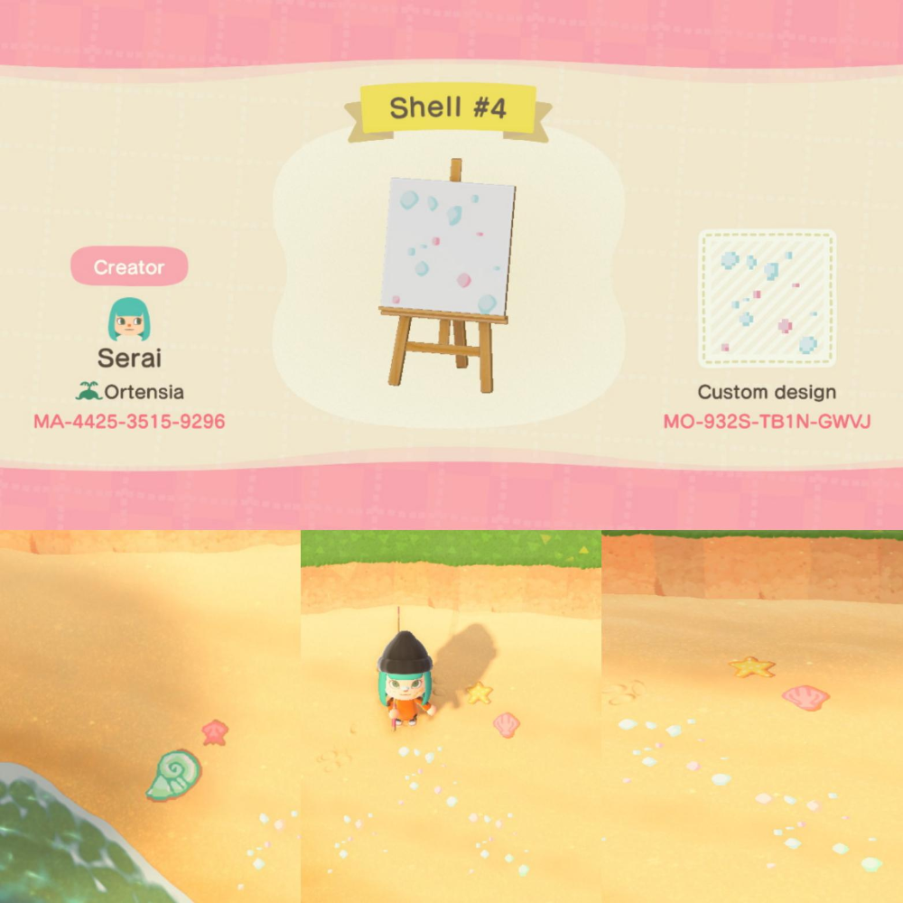 Animal Crossing New Horizons Beach Shells Design Cerca De Google In 2020 Animal Crossing 3ds Animal Crossing Animal Crossing Funny