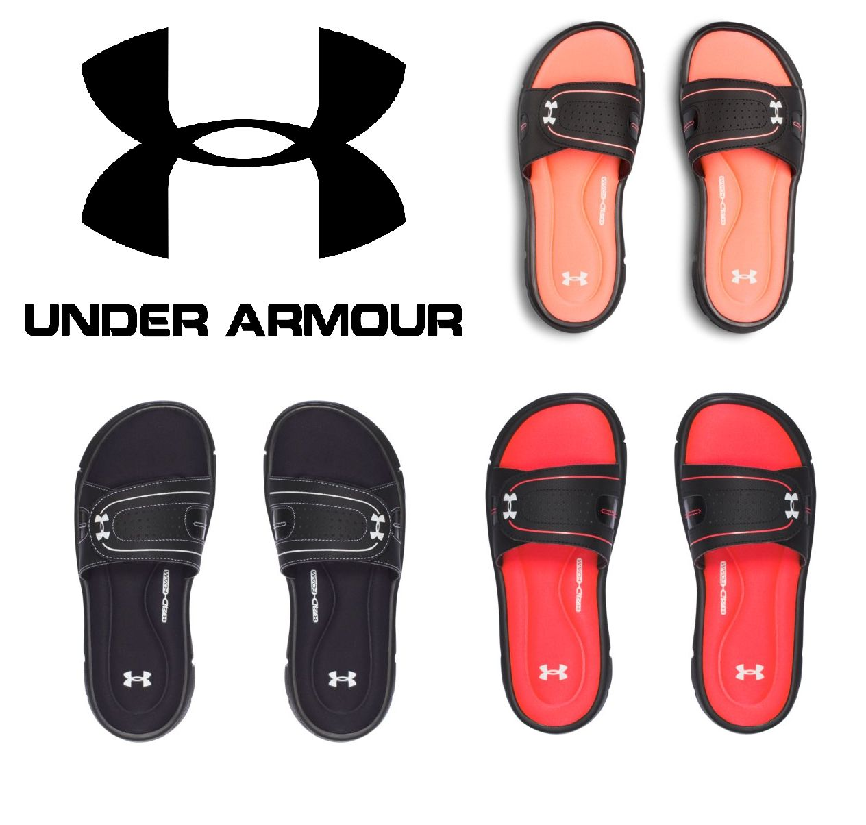 8441e5b812b Sandals 62107  Under Armour Women S Ignite Viii Sandals Slides - New - Free  Ship - 1287319 -  BUY IT NOW ONLY   23.99 on  eBay  sandals  under  armour  ...