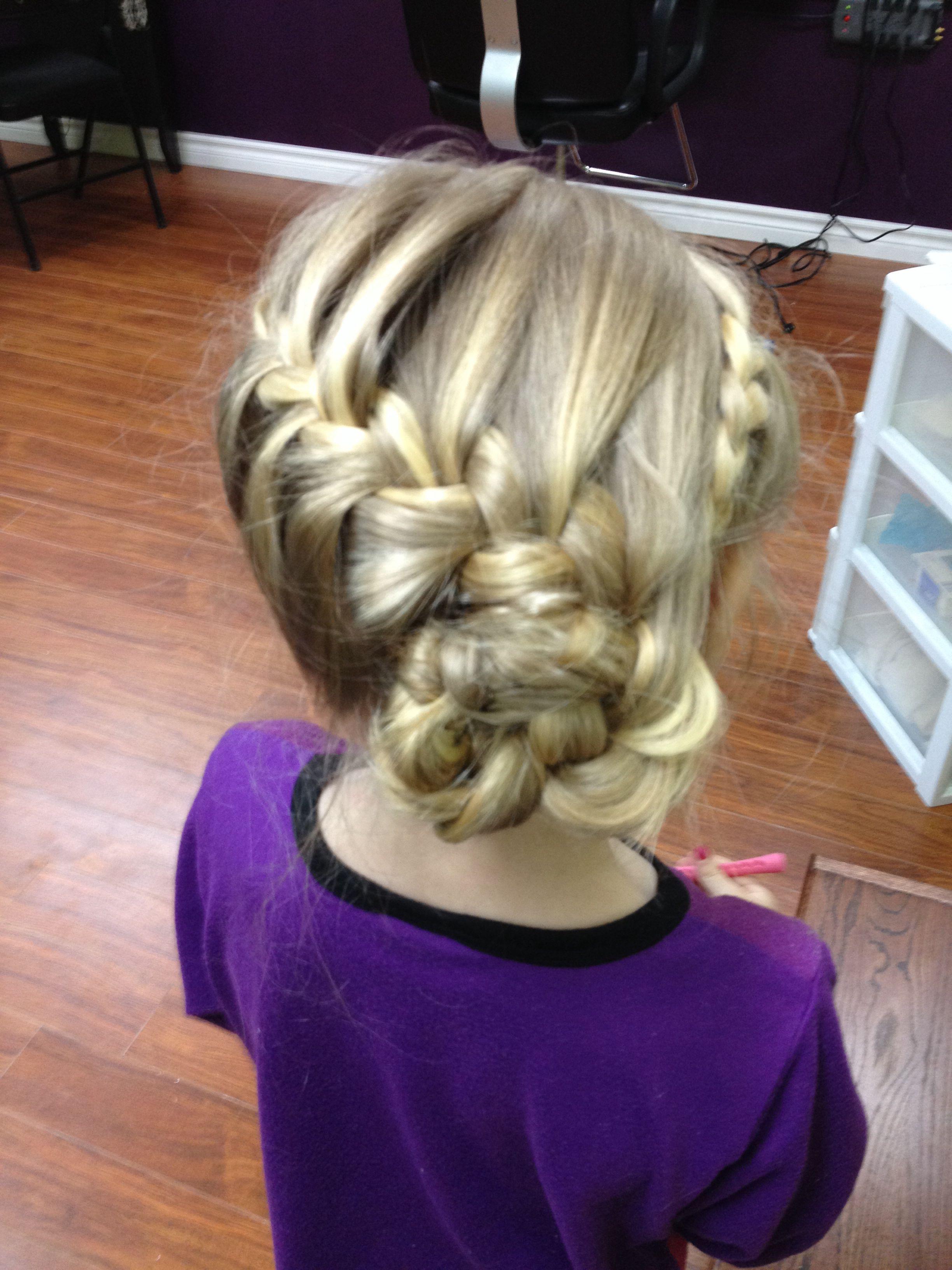 Cute Little Girls Updo Girls Updo Hairstyles Kids Updo