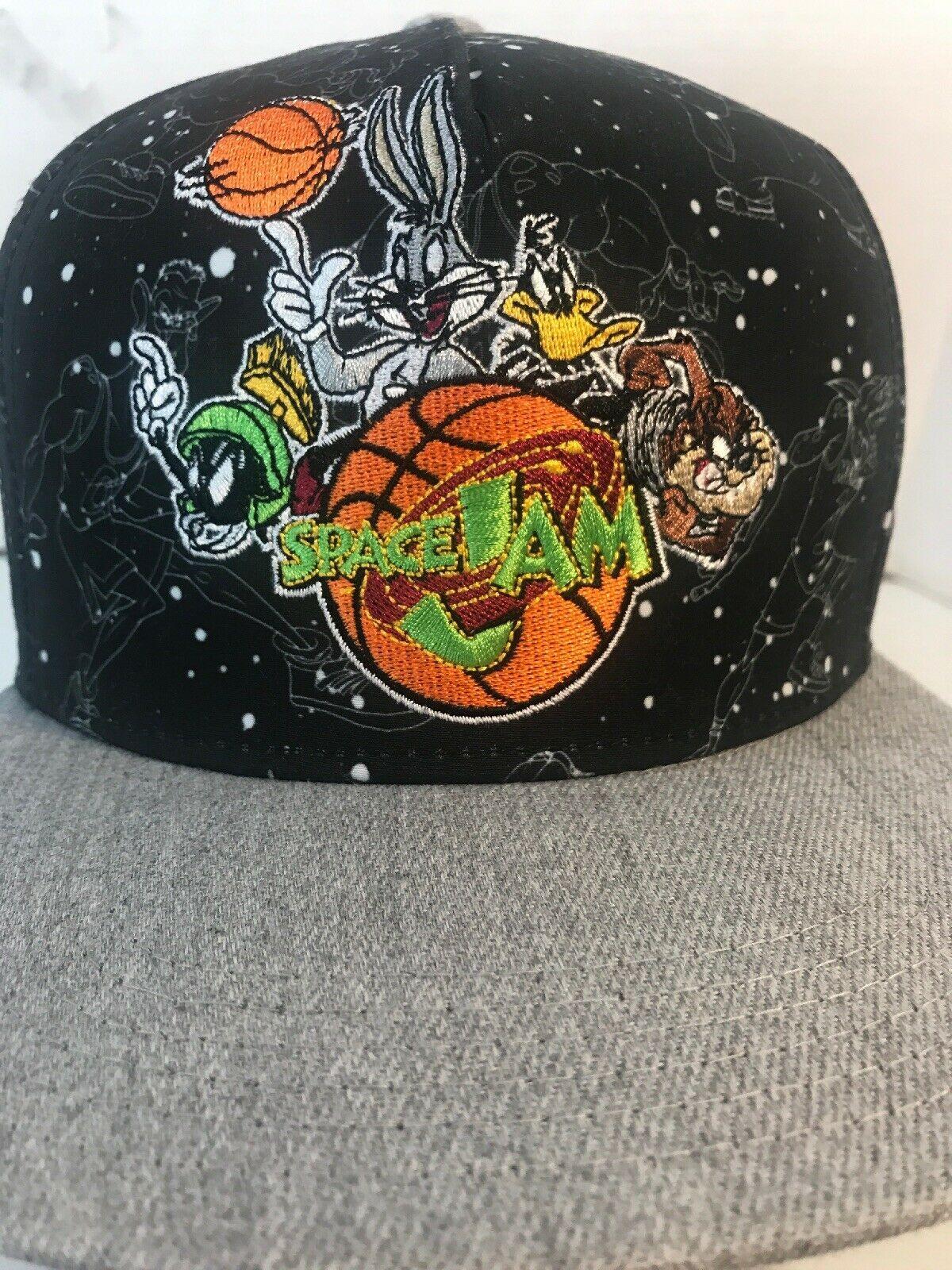 98032c77700796 Space Jam Movie Adjustable Snapback Hat Cap Embodied Bugs Taz Looney Tunes  Squad