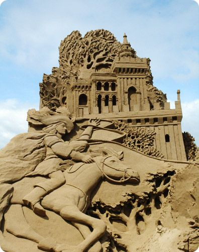 Sand sculptures, Weston-Super-Mare, England