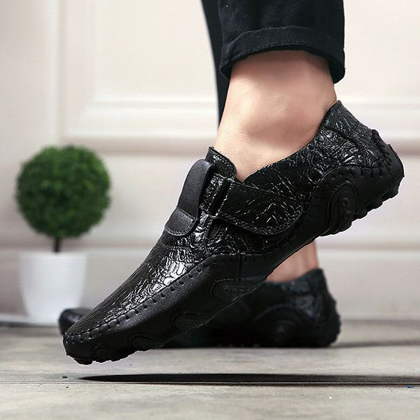 e0f61a4217d High-quality Men British Style Color Blocking Flat Slip On Casual Backless  Loafers - NewChic Mobile
