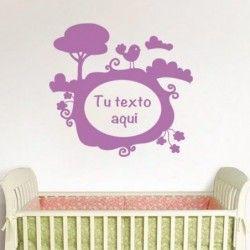 Preciosas #pegatinas de texto personalizable. #goodvinilos #vinilosdecorativos #decoración