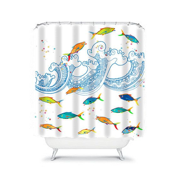 Kids Shower Curtain Toddler Boys Shower Curtain Boys Bathroom