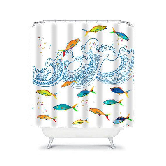 Kids Shower Curtain Toddler Boys Shower Curtain Boys Bathroom