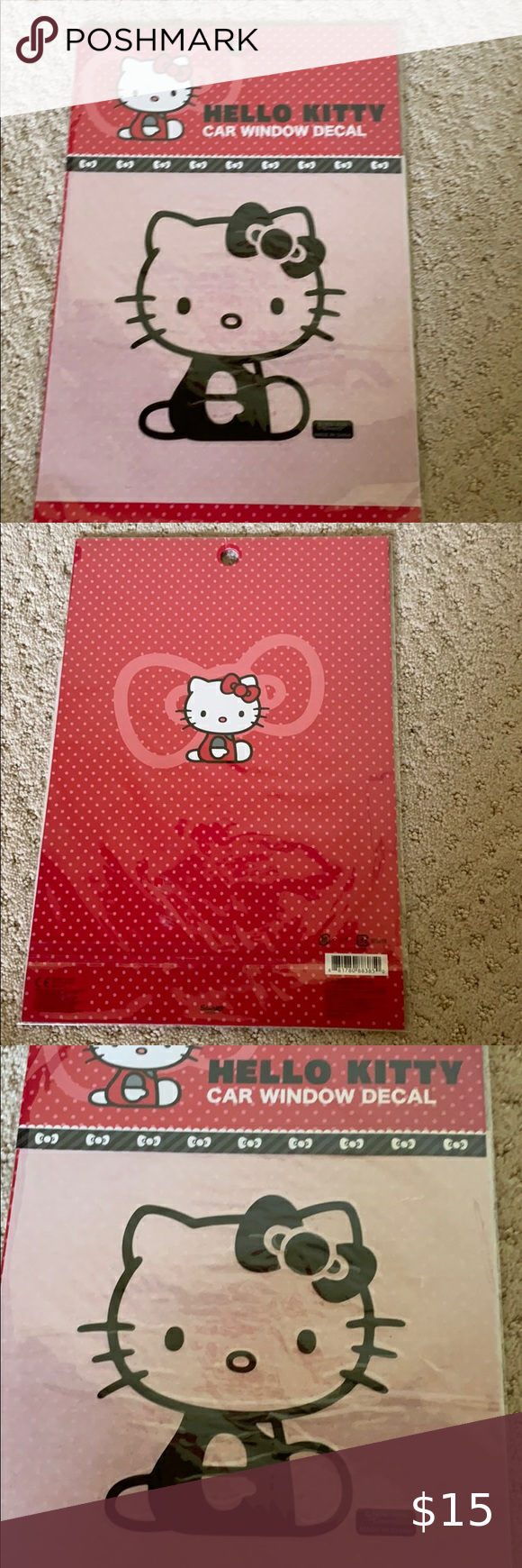 New Hello Kitty Car Decal Stickers Hello Kitty Car Car Decals Hello Kitty [ 1740 x 580 Pixel ]